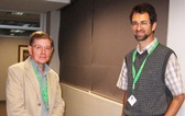 L to R): Prof Ian Dubery (UJ), Prof Dave Berger (UP).