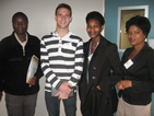 (L to R): Dr Richard Mundembe (Wits), Mr Steven Hussey (UP), Ms Maureen Baloyi (UJ), Ms Peggy Maake (UJ).