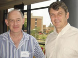 ARC Biotechnology Platform Head, Dr Jasper Rees, with Mr Ben Durham of the DST (right).