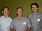 Main presenter, Dr Peter Li (left), pictured here with organisers – CSIR's Dr Colin Kenyon (centre) and the ACGT's Dr John Becker.