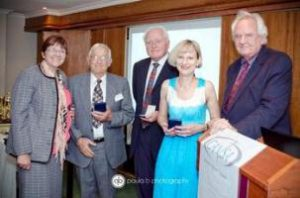 Mrs J Van Rensburg, Dr Blair, Prof Hesseling, Prof Joubert and Dr Albrecht (from left to right)